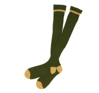 Barbour Contrast Gun Stockings -Olive/Gold - MSO0003OL52